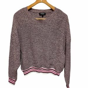 Express purple large batwing sleeve slouchy sweater